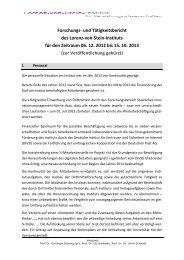 Forschungsbericht 2012/2013 - Lorenz-von-Stein Institut für ...