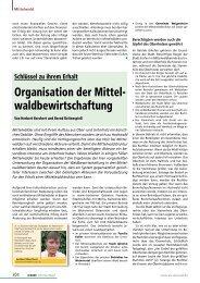 Organisation der Mittel - Bayerische Landesanstalt für Wald und ...