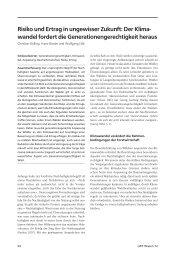 weiterlesen ... Risiko und Ertrag in ungewisser Zukunft: Der Klima