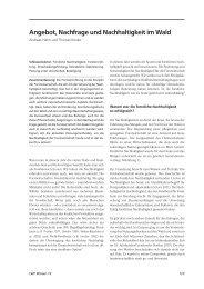 weiterlesen ... Angebot, Nachfrage und Nachhaltigkeit im Wald