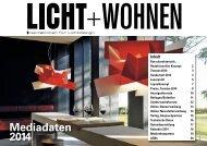 Mediadaten 2014 - Licht + Wohnen Inspirationen für Lichtdesign