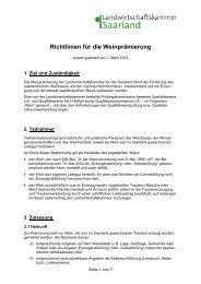 zum download - Landwirtschaftskammer für das Saarland