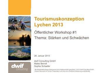 Tourismuskonzept Lychen 2013
