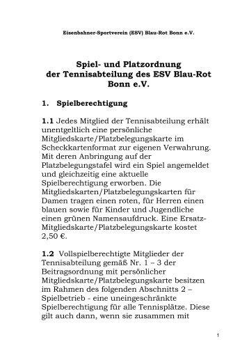 Spiel - ESV Blau Rot Bonn ev