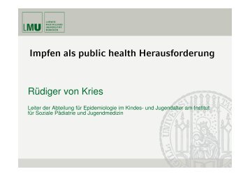 Setting Impfen - Master of Public Health