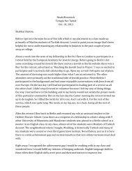 Noah Westreich Temple Ner Tamid Oct. 18, 2013 Shabbat Shalom ...