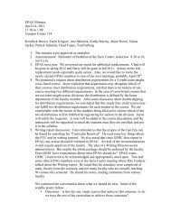 EPAG Minutes April 14, 2011 11:30 to 1:00 Campus Center 214 ...