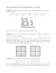 Math 237 Worksheet: line integrals and gradient vector fields ...