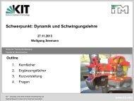 Sp 8: Dynamik und Schwingungslehre (Seemann) - KIT - Fakultät für ...
