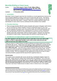 Read our briefing on the campain here - Macmillan Cancer Support