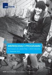 WerKscHau - MHMK Macromedia Hochschule für Medien und ...