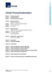 Inhalt Pressematerialien - MHMK Macromedia Hochschule für ...