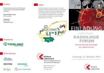 RADIOLOGIE FORUM - Märkische Kliniken GmbH