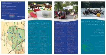 Veranstaltungen von Mai - August - Märkische S5-Region