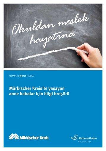 Märkischer Kreis'te yaşayan anne babalar için bilgi broşürü
