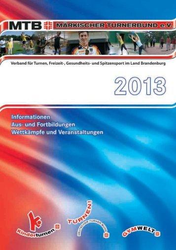 Arbeitsbuch des MTB 2013 - Märkischer Turnerbund