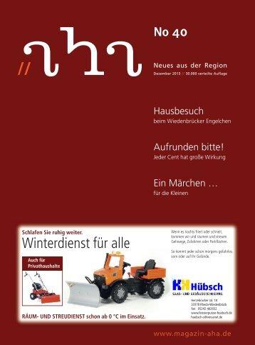 Winterdienst für alle - aha-Magazin