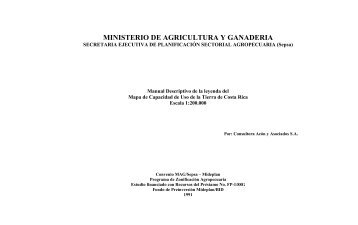 Manual descriptivo de la leyenda del mapa de capacidad de uso de ...