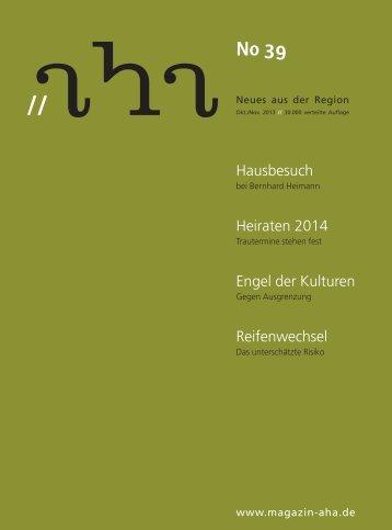 Hausbesuch Heiraten 2014 Engel der Kulturen ... - aha-Magazin
