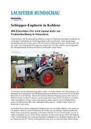 Schlepper-Euphorie in Koblenz