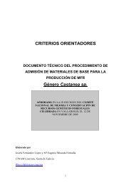 CRITERIOS ORIENTADORES Género Castanea sp.