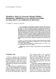 Estadísticos vitales de Nasonovia ribisnigri (Mosley) (Homoptera ...