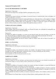Semana del 29 de julio de 2013 PAVIAS DE BOQUERONES Y ...