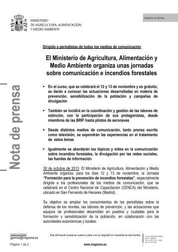 13.10.30_Jornada formación incendios forestales - Ministerio de ...