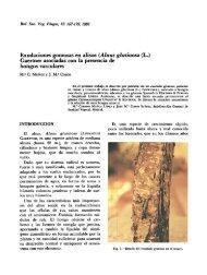 Exudaciones gomosas en alisos (Alnus glutinosa (L.) Gaertner ...