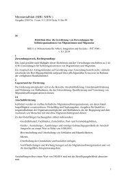 Richtlinie über die Gewährung von Zuwendungen für ...