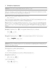 1 Primitiva funktioner