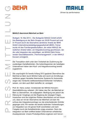 Pressemeldung - Mahle-industry