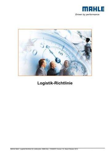 Logistikrichtlinie MAHLE Behr weltweit