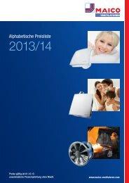 Alphabetische Preisliste 2013/14 (PDF) - Maico