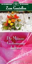 gastronomische Highlights und Soireenreigen 2013 - Insel Mainau