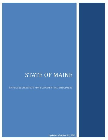 employee benefits for confidential employees - Maine.gov