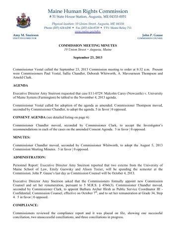 September 23, 2013 - Maine.gov