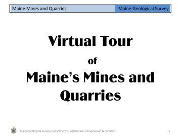 Mining and quarrying (PDF 2.8 Mb) - Maine.gov