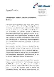 Trikot Aktion Frankfurt - Mainova AG