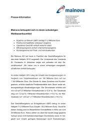 PM: Mainova Halbjahresbilanz 2013 - Mainova AG