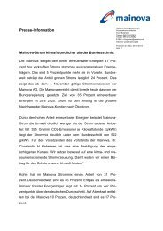 PM: Mainova-Strom klimafreundlicher als der ... - Mainova AG