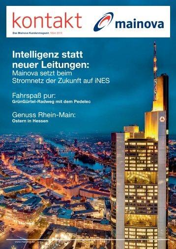 Intelligenz statt neuer Leitungen: - Mainova AG