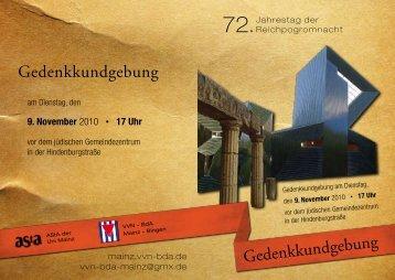 Flugblatt 9. November 2010 | PDF-Format - VVN-BdA Mainz