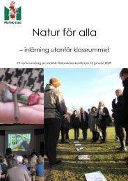 Natur för alla - inlärning utanför klassrummet - Malmö stad