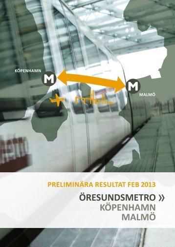 ÖRESUNDSMETRO KÖPENHAMN MALMÖ - Malmö stad