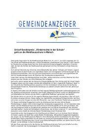 GA 25-2013 - Gemeinde Malsch