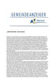 GA 14-2013 - Gemeinde Malsch