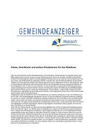 GA 41-2013 - Gemeinde Malsch