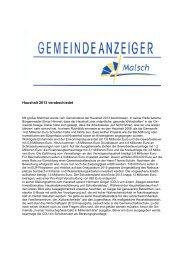 GA 07-2013 - Gemeinde Malsch