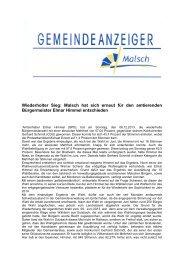 GA 50-2013 - Gemeinde Malsch